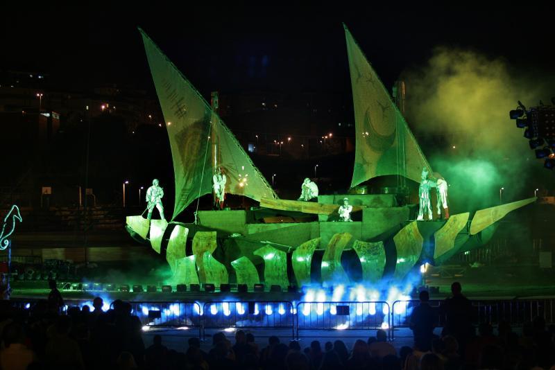 Inauguración del parque de Las Llamas